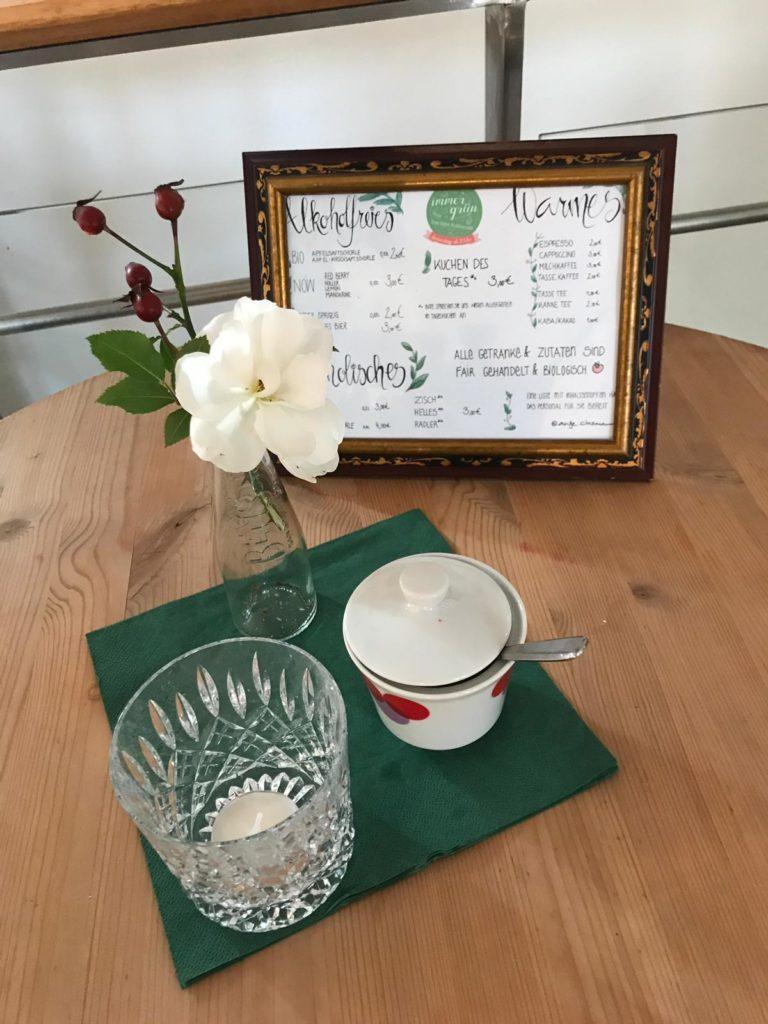 speisekarte cafe immergruen
